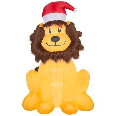 Home Accents 6 Feet Tall Lighted Airblown Inflatable Christmas Lion