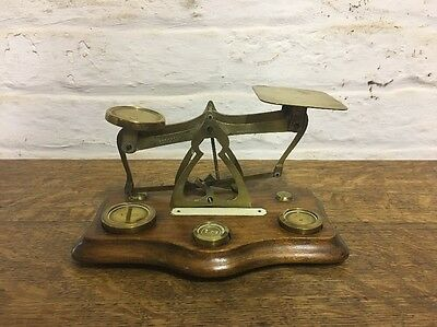 Antique Brass Letter Scales And Weights