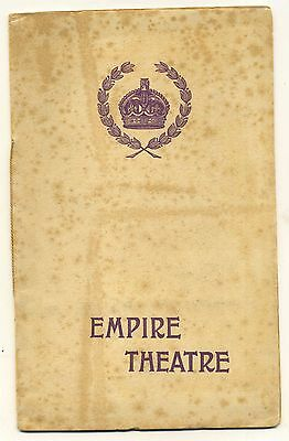 Empire Theatre London Programme (July 23rd 1906) Variety, Revue