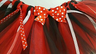 Baby Little Girls 6-12 Months Minnie Mouse Inspired Tutu - Red And Black