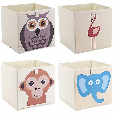 Kids Toy Animal Storage Box Collapsible Non Woven Fabric Children's Organiser