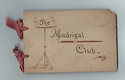 RARE Unique Music Autograph Book- MADRIGAL CLUB of Brooklyn NY 1891 Signed Album
