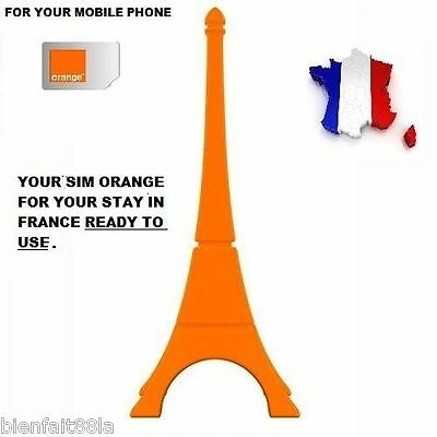 New! Ready To Use  French Simcard Orange/pay As You Go+ 5 € Of Free Credit