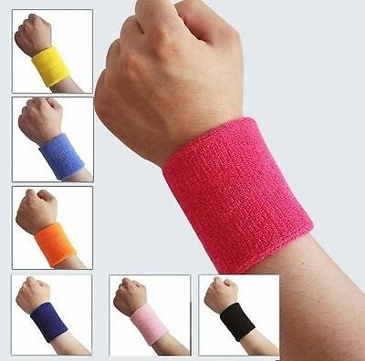Sports Wrist Sweatbands Tennis Squash Badminton GYM Yoga Baskitball Wristband