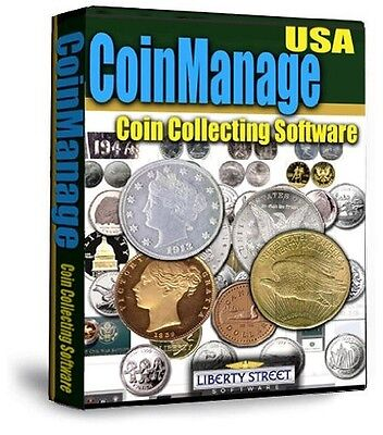 USA Coin Inventory Software + Printed Manual USA Coins & Sets With Values