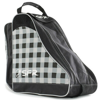 SFR - Designer Ice & Skate Bag - Black/Chequered- Roller Skate Carry Bag
