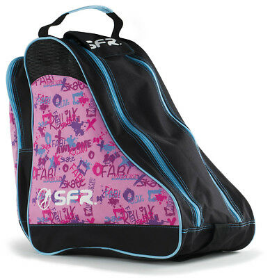 SFR - Designer Ice & Skate Bag - Pink/Graffiti- Roller Skate Carry Bag