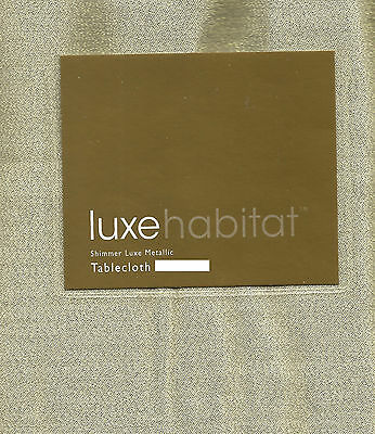 Luxe Habitat Gold Shimmer Sparkle Holiday Christmas Anniversary Tablecloth