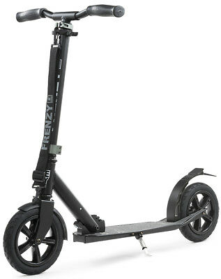Frenzy - Recreational Pneumatic Scooter - Black - 205mm- Adults Push Scooter