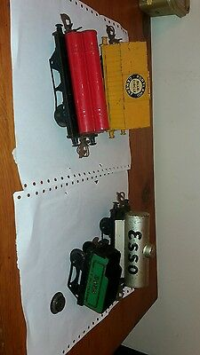 """Vintage Hornby Meccano Tinplate """"o""""gauge Esso. Blue Circle. Plus 2 Others"""