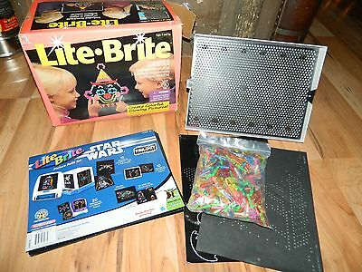 Vintage 1994 Lite Bright in box w/ Extras! Star Wars Set Scooby Doo Tons of Pegs