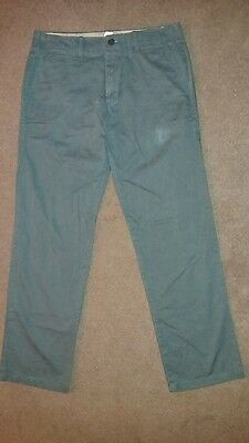 """Gap Khakis Mens Size 32 x 32 Grey Lived in Straight Chino Trousers 32"""" Waist 32"""