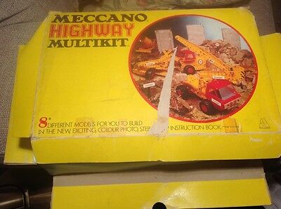 VINTAGE MECCANO HIGHWAY MULTIKIT  BOXED & instruction booklet.