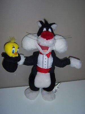 """Looney Tunes Magician Sylvester and Tweety Bird Play-By-Play 15"""" Plush"""