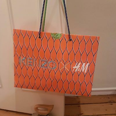 KENZO X H&M Medium Paper Carrier Bag 48 x 36 x 16 cm LIGHTLY USED ONCE