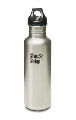 Klean Kanteen - Classic 800ml Brush Stainless - Loop Cap- Water Bottle