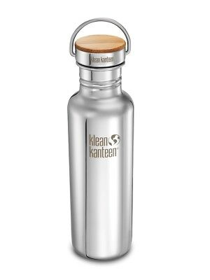 Klean Kanteen - Classic 800ml/12oz Reflect Mirror Stainless/Bamboo- Water Bottle