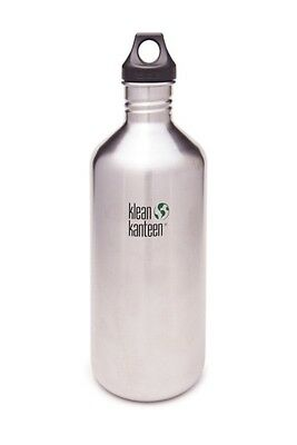Klean Kanteen - Classic 1900ml/64oz Brushed Stainless - Loop Cap- Water Bottle
