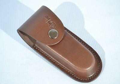 Pouch Cover Carrying Case Genuine Leather Hunting Knife Holder 120 X 40 mm Brown