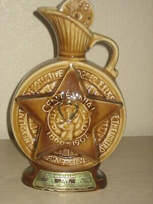 Vintage 1968 Beam's ELKS CLUB 4-5th Quart Decanter Bottle 86 Proof China