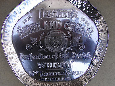Teachers Scotch Whisky Commemorative Copper Beaten Tray 100 Years 1830 ~ 1930