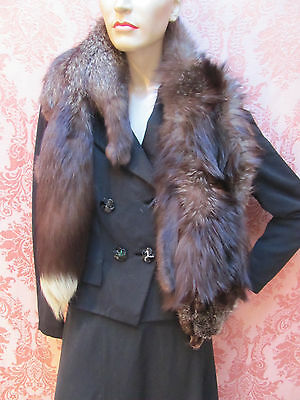 VTG 1940s *DRAMA QUEEN Old Hollywood GLAMOUR *FULL-BODY RACCOON FUR STOLE $24.99