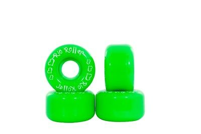 Rio Roller - Coaster Wheels - Green- Colourful Roller Skate Wheels - Pack of 4