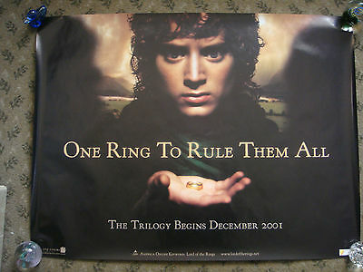 Lord Of The Rings Fellowship Of The Ring (2001)  X 2 Original Uk Quad Posters