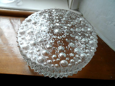 Vintage    Bubble  Glass Ceiling Light  Shade  With Backing  Plate
