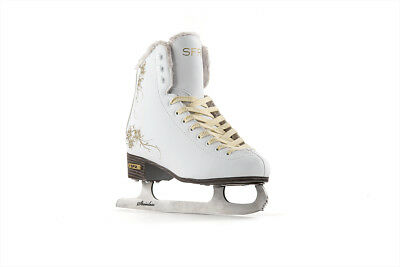 SFR - Glitra Ice Skate - White- Adults Figure Ice Skates