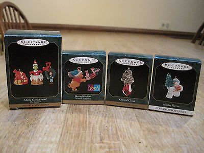 Lot of 4 Hallmark ornament miniatures