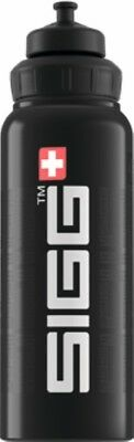 Sigg - Wide Mouth Bottle Siggnature Black - 1.0L- Aluminum Water Bottle