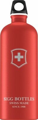 Sigg - Swiss Emblem Touch Red - 1.0L- Aluminum Water Bottle