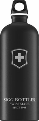Sigg - Swiss Emblem Touch Black - 1.0L- Aluminum Water Bottle
