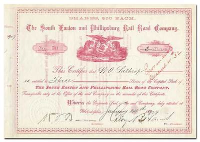 South Easton and Phillipsburg Rail Road Company Stock Certificate