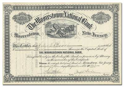 Moorestown National Bank Stock Certificate (New Jersey)