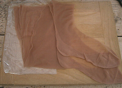 VINTAGE 1950's LIGHT TAN FULLY FASHIONED SEAMED STOCKINGS CUBAN HEEL IN PACKET