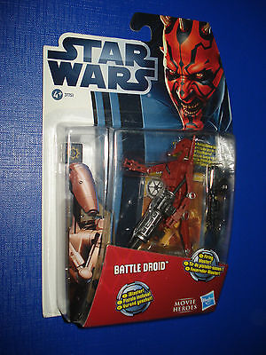 STAR WARS -  BATTLE DROID (Red) ACTION FIGURE 2012 MOC NEW