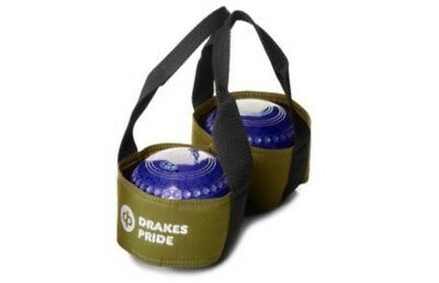 Drakes Pride - Two Bowl Carrier - Green- Bowls Carry Bag