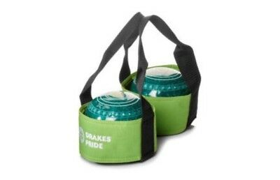 Drakes Pride - Two Bowl Carrier - Lime- Bowls Carry Bag