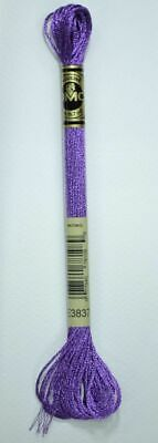 DMC Light Effects Thread E3837 PURPLE RUBY Embroidery Floss, 8m Skein