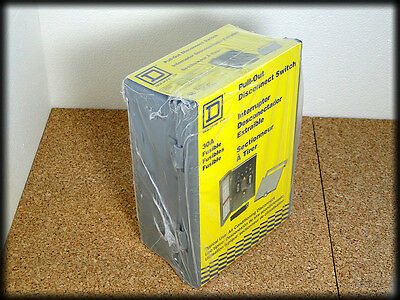 Square D 30A Pull-Out Air Conditioning Disconnect Switch Fusible Fp221R - Sealed