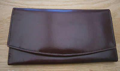 Vintage Burgundy Buffalo Calf Leather Purse Wallet