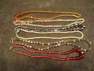 6 strands of  beads various material