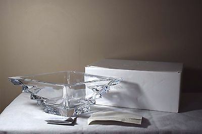 "Lenox Ovations Delta 14"" Centerpiece Bowl - Full Lead Crystal Excellent Cond."