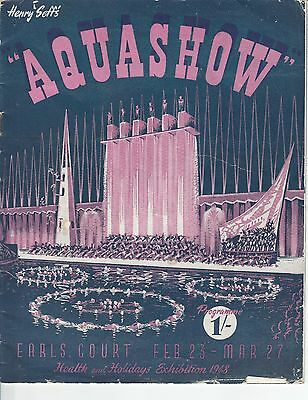 Aquashow Earls Court London Health & Holidays Exhibition 1948 Johnny Weissmuller