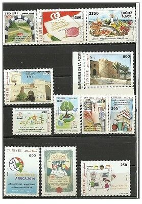 2013- 2014- 2015- Tunisia- Full years.MNH**(stamps and Blocks)