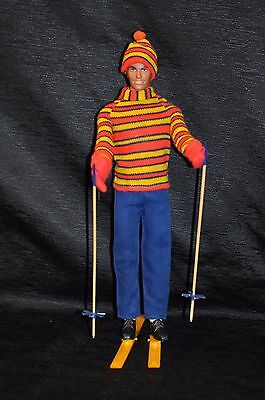 VTG 1970s Barbie KEN Doll # 1438 THE SKIING SCENE Clothing Outfit COMPLETE EXC