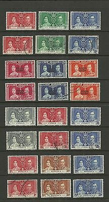 Commonwealth 1937 Coronation Selection Of Sets Mounted Mint /used Ref 1