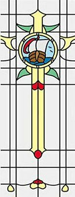 Dollhouse 1//12 Simulated Leadlight Stained Glass Door Sidelight Inserts SLIM22